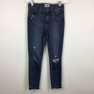 Paige Hoxton Crop Distressed Jeans